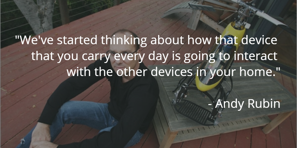 andy rubin's quote head of android