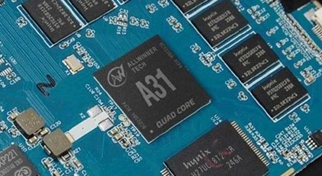 view of the allwinner a31 chipset