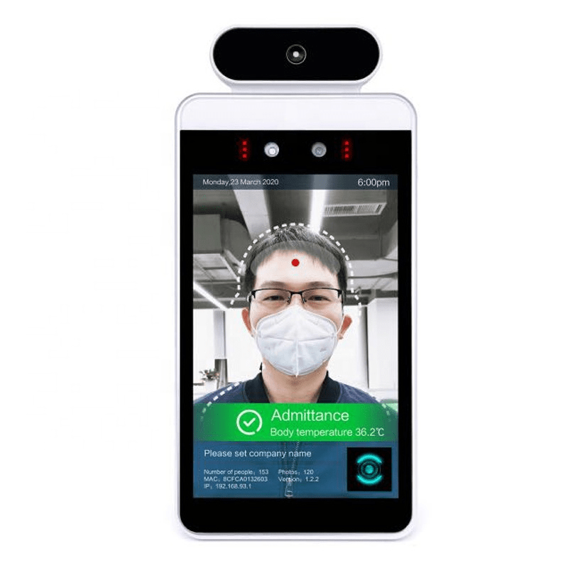 Access Control Android Tablet with Body Temperature Sensor and Facial Recognition